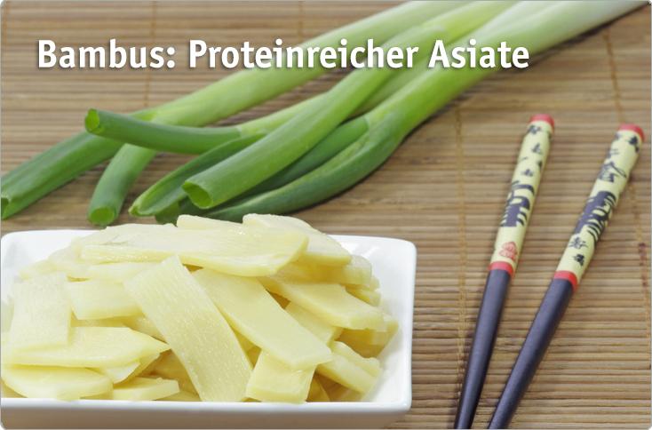 Bambus Proteinreicher Asiate Besserhaushalten