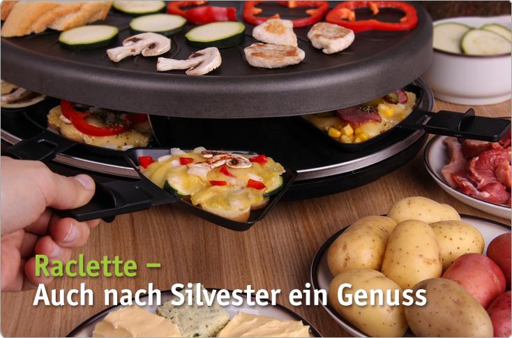 raclette auch nach silvester ein genuss besserhaushalten. Black Bedroom Furniture Sets. Home Design Ideas
