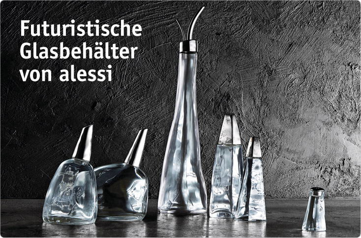 futuristische glas beh lter f r die tafel besserhaushalten. Black Bedroom Furniture Sets. Home Design Ideas