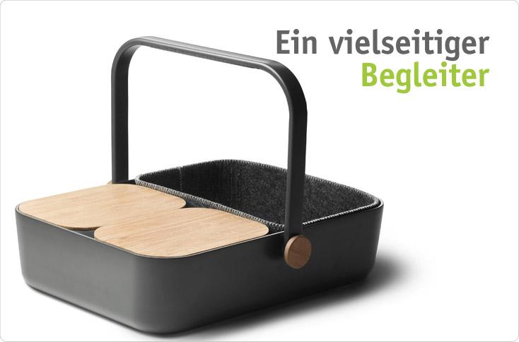 tablett und korb und elegant besserhaushalten. Black Bedroom Furniture Sets. Home Design Ideas