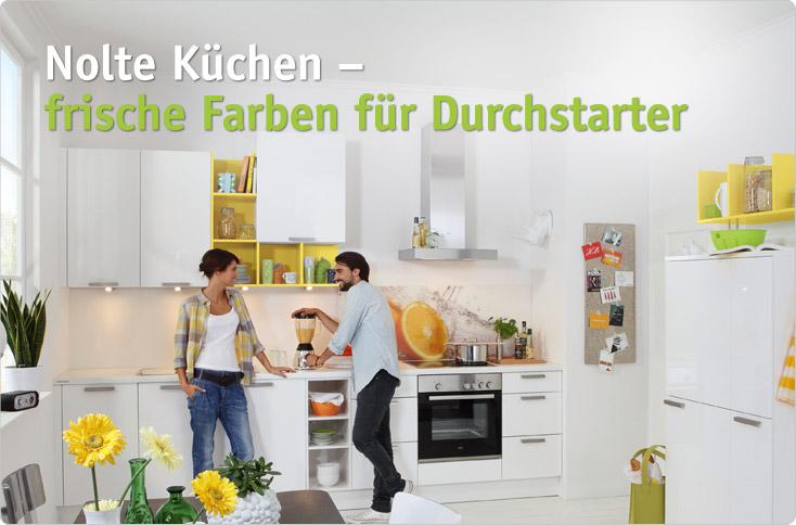 Nolte Küchen – frische Farben für Durchstarter | besserhaushalten